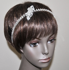 HAIR SPLASH ELASTIC RHINESTONE WEDDING HEADBAND