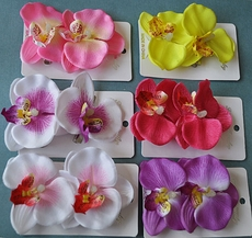 HAWAIIAN FLOWER HAIRCLIP - SOLD IN PAIRS