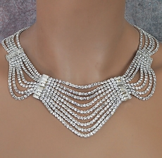 HOLLYWOOD TINSEL RHINESTONE JEWELRY SET