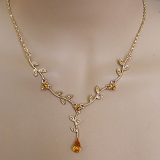 JUBILEE TOPAZ ON GOLD RHINESTONE SET