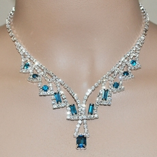 LEGACY RHINESTONE TEAL JEWELRY SET