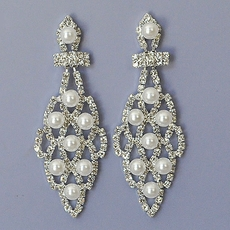 PEARLY LATTICE BRIDAL EARRINGS