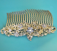 PERNACIOUS GOLD BRIDAL HEADBAND