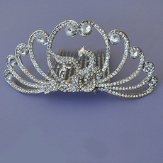 RHINESTONE PEACOCK HAIRCOMB