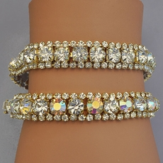 RODEO DRIVE GOLD BRACELETS - CLEAR or AB-REFLECTIVE