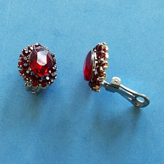 RUBY DELIGHT CLIP-ON EARRINGS