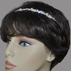 SCATTERED CRYSTALS ELASTIC COMFORTABLE RHINESTONE HEADBAND