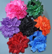 SILK FLOWER JAW CLIP HAIR ACCESSORY