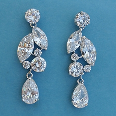 SIZZLE CUBIC ZIRCONIA CZ EARRINGS - TEMP SOLD OUT