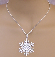 SNOWFLAKE FLURRY RHINESTONE NECKLACE SET