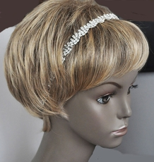 TWISTER RHINESTONE ELASTIC WEDDING HEADBAND