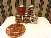 Vintage Style Canned Fruit Set