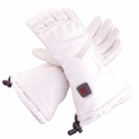 Glovii S6 Hard Nuckle Heated Ski Gloves - White