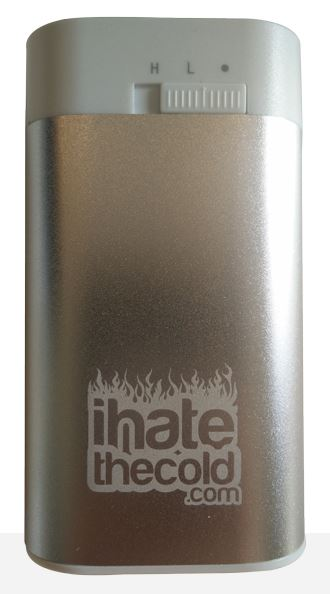 iHateTheCold Rechargeable Reusable Maxi Silver 8800mAh USB Hand Warmer