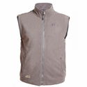 Venture Heat Battery Heated Fleece Vest for Men - Grey