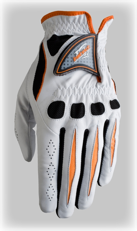 Instinct Tour Pro Golf Glove Caution Orange