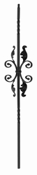 Double Twist Iron Baluster with Scroll 24-1