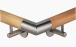 """Stainless 90� Angle for 1.78"""" Wood Handrail"""