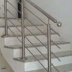 Stainless Round Newel Posts