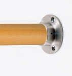 """Stainless Wall Termination for 1.78"""" Wood Handrail"""