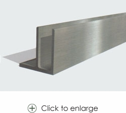 Aluminum U Channel For Glass Railing Only 710 00 U