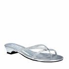 Ashley shoe By Touch Ups silver or gold flip flop flats size 5-12