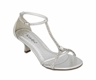 "Ava by Coloriffics 2 1/4"" heel in Silver and Nude sizes 5 1/2 - 10, 11 Med"
