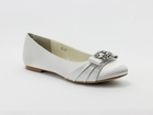 Brittany Bridal Flats Shoe by Coloriffics Ivory Ballet  5 1/2 - 11