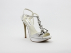 Crystal bridal Shoe in Ivory size 6-11