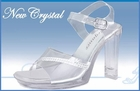 "New Crystal Clear shoe 4"" heel  size 5-10 & 11"