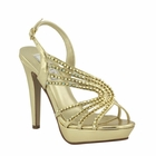 Stephanie shoe by Touch Ups in Gold or Silver, 4 inches 5-11