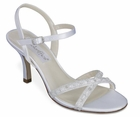 Tiffany Shoe by Coloriffics  2 1/2 inch heel ivory size 6  1/2, SALE