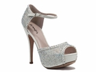 Valentine shoe by Coloriffics white, champagne