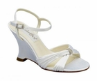 "Victoria by Coloriffics 3 1/4"" heel in White or Ivory size 5- 10, 11"