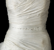 Beaded Wedding Dress Belt with Pearls and Crystals