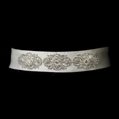 Floral Rhinestone Wedding Dress Belt in White and Ivory
