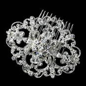 Floral Swirl Wedding Brooch Comb