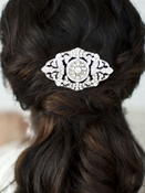 Mariell Magnificent Art Deco Crystal Wedding Hair Comb - sale!