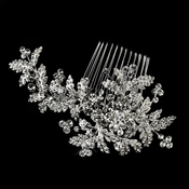Rhinestone Leaf Vine Wedding Hair Comb