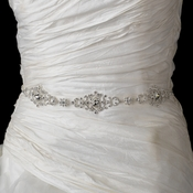 Rhinestone Wedding Dress Belt with Ribbon