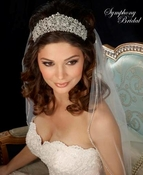 Symphony Bridal 7321CR Regal Rhinestone Wedding Tiara