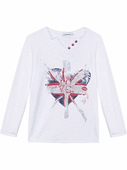 3 Pommes British Girl Love Tee Shirt