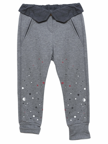 3 Pommes Grey Chine Trousers