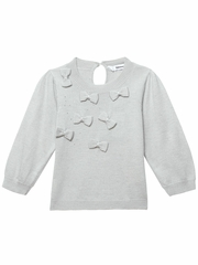 3 Pommes Light Gray Sweater