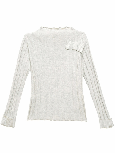 3 Pommes Light Grey Sweater Top