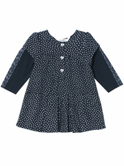 3 Pommes Navy Dress