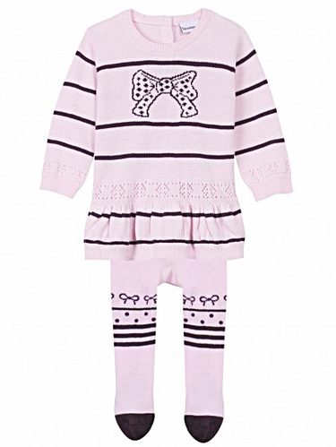 3 Pommes Romantic Baby Rose Pale Robe & Collant