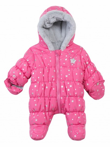 3 Pommes Sweet Girl Pink w/ Stars Coverall