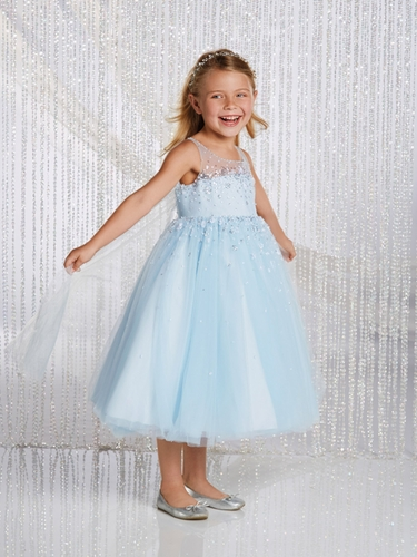 Alfred Angelo Ice Crystal Elsa Inspired Disney Princess Flower Girl Gown