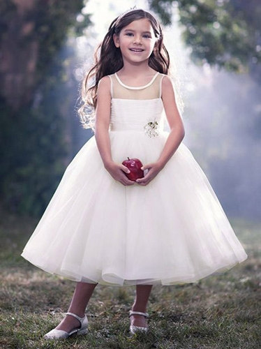 Alfred Angelo Ivory Snow White's Princess Flower Girl Dress